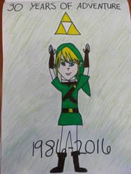 30 Years of Zelda by nikkichic109