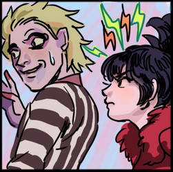 Beetlejuice and Lydia by alganiq
