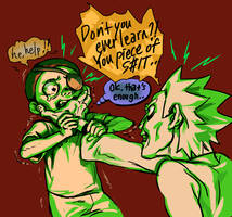 Oh you evil Morty (trigger warning) by alganiq