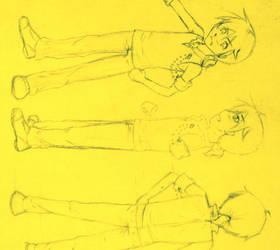 Len Kagamine - outfit design by SakuraTenshi101