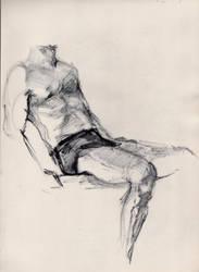 Male torso sketch by TeaLabel