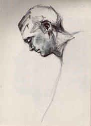 Man profile sketch #2 by TeaLabel