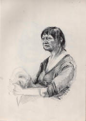 Sitting woman portrait #4 by TeaLabel