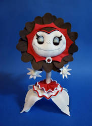Vampire Sunflower plush [Plants vs. Zombies] by TeaLabel