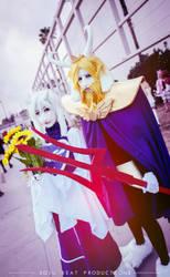 Toriel and Asgore Dreemurr by niicakes