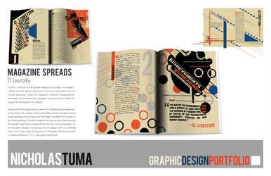 El Lissitzky, 3 page spread by UntouchableDesign