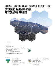 Special status plant survey (report cover) by UntouchableDesign