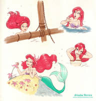 Disney sketches - The Little Mermaid by ariartna