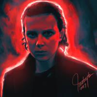 Eleven (Stranger Things 2) Fanart by reytz05