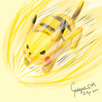 Pikachu used Volt Tackle by Cyndaquil-CDB