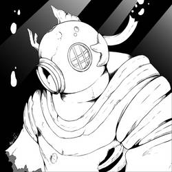 Inktober: Underwater by UndeadKitty13