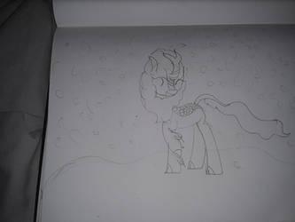 Kirin in the snow (My First Kirin) by PrincessFantasyStar