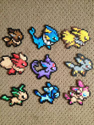 Eeveelution Perler bead set by ClayForPay