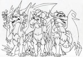 Guardianes y Sparx (Guardians and Sparx) by KaiserAndJade