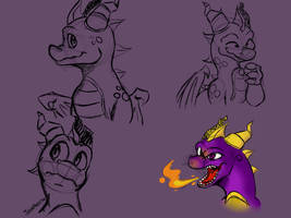 Facetas de Spyro ~ Facets of Spyro by KaiserAndJade
