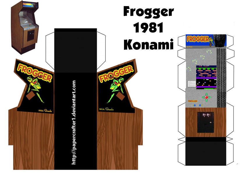 frogger paper arcade template by papercrafter1 on deviantart