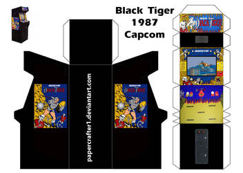Papercrafter1 6 0 Black Tiger Papercraft Arcade Template By