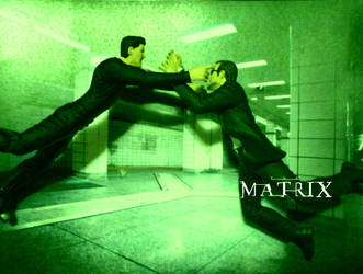 Subway Fight - The Matrix by Papercrafter1