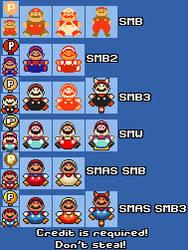 Super Mario Maker: P-Balloon (SMB/SMB2/SMB3/SMW) by qwertyuiopasd1234567