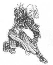 SQ- Galatea in Ebony by BloodCri