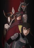 Splinter Karai and Shredder by KuinaSpirit
