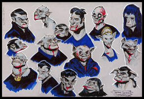 Vampire Head Sketches 01 by Cre8tivemarks