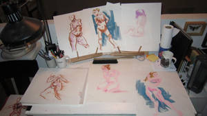 Figure Drawing - The Ladies by Cre8tivemarks