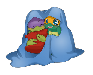 TMNT: Warm and fluffy by NamiAngel