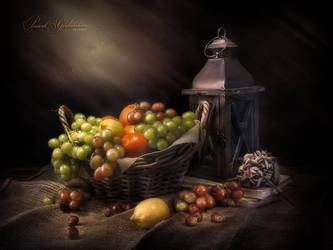 Still life. Fruits and lantern by PG-Artwork
