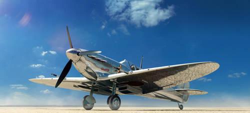 Desert Chrome Spitfire by Laffonte