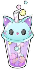 Cute cat bubble tea by Meloxi