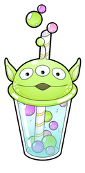 Alien bubble tea by Meloxi