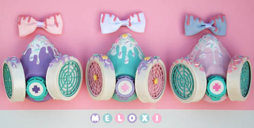 Melty gas masks by Meloxi