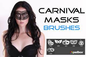 Carnival Masks Brushes by UmbraDeNoapte-Stock