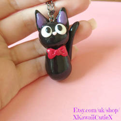 Jiji Necklace, Studio Ghibli Kiki's Cat by xhellojackiex