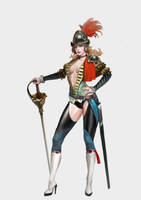 Female Elite-Guard Concept Design by Budin87