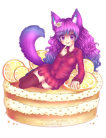 Sweet Lemon Cake by Miichau