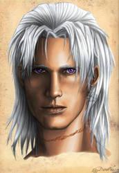 Portrait of the last Nephileim by DameOdessa