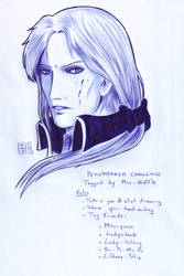 Pen and marker challenge: Emilien by DameOdessa