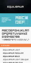 Equilibrium Font by DeepBlueDesigns