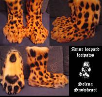 Amur leopard feetpaws by SnowVolkolak