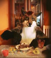 Dinner with a Mr. Fox by SnowVolkolak