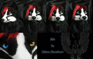 Aife wolf head by SnowVolkolak