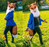 Fox Fidget partial by SnowVolkolak