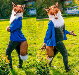 Fox Fidget partial by SnowVolkolak
