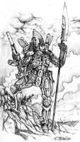 An eldar guardian by Stormcrow135