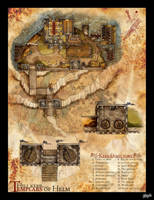 DnD Map: The Templar Hill Fort by Stormcrow135