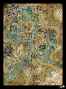 Dnd map: The Sunken City by Stormcrow135