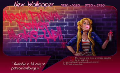 Punk Moon Wallpaper on Patreon by ReddEra