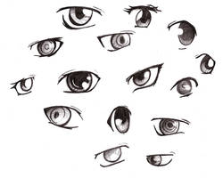Manga eyes 2 by SammYJD